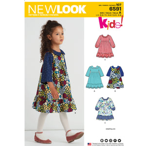 NL6591 Child's Dress sewing pattern from Jaycotts Sewing Supplies