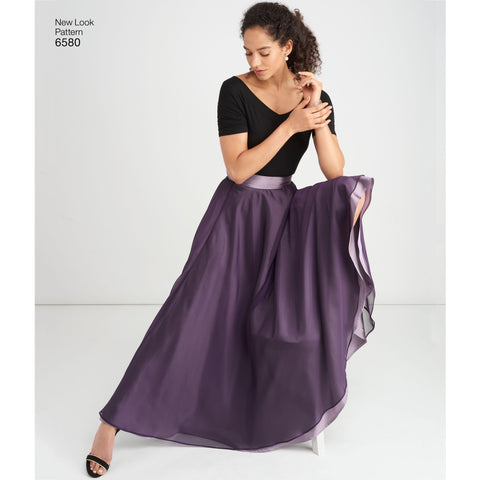 NL6580 Circle Skirt Evening Wear pattern