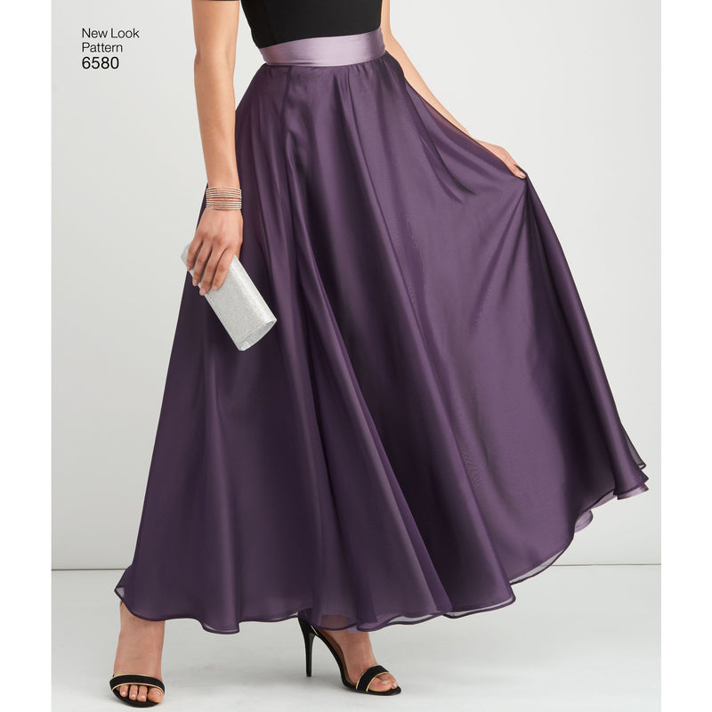 NL6580 Circle Skirt Evening Wear pattern from Jaycotts Sewing Supplies