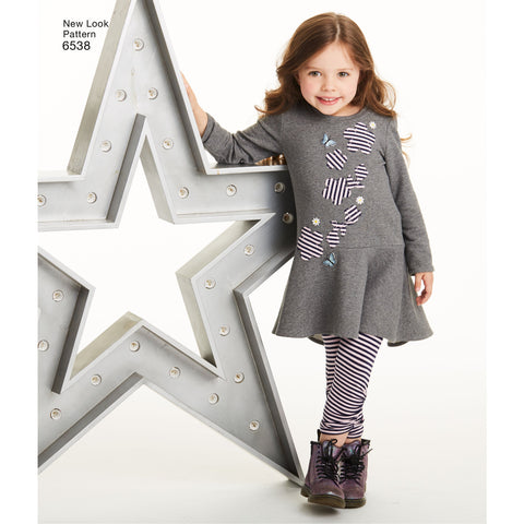 NL6538 Child's Knit Leggings and Dresses