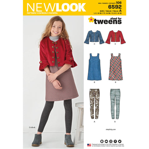 New Look 6592 sewing pattern.
