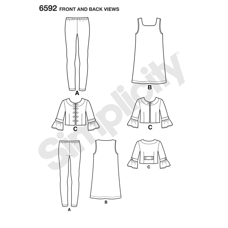 NL6592 Girl's Sportswear sewing pattern from Jaycotts Sewing Supplies