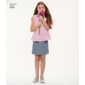 NL6549 Girls' Pattern | Top, Skirt and Trousers