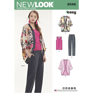 New Look 6546 sewing pattern