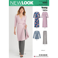 NL6581 Wrap Top / tunic and pants sewing pattern from Jaycotts Sewing Supplies