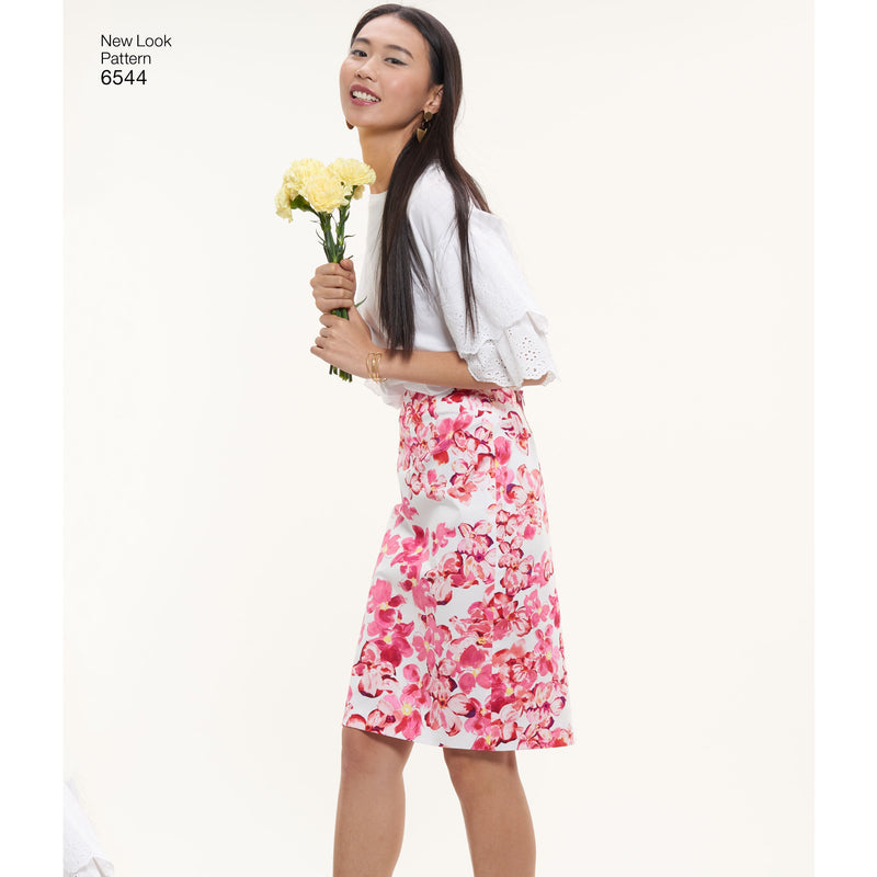 NL6544 Pencil Skirt Pattern | Two Lengths