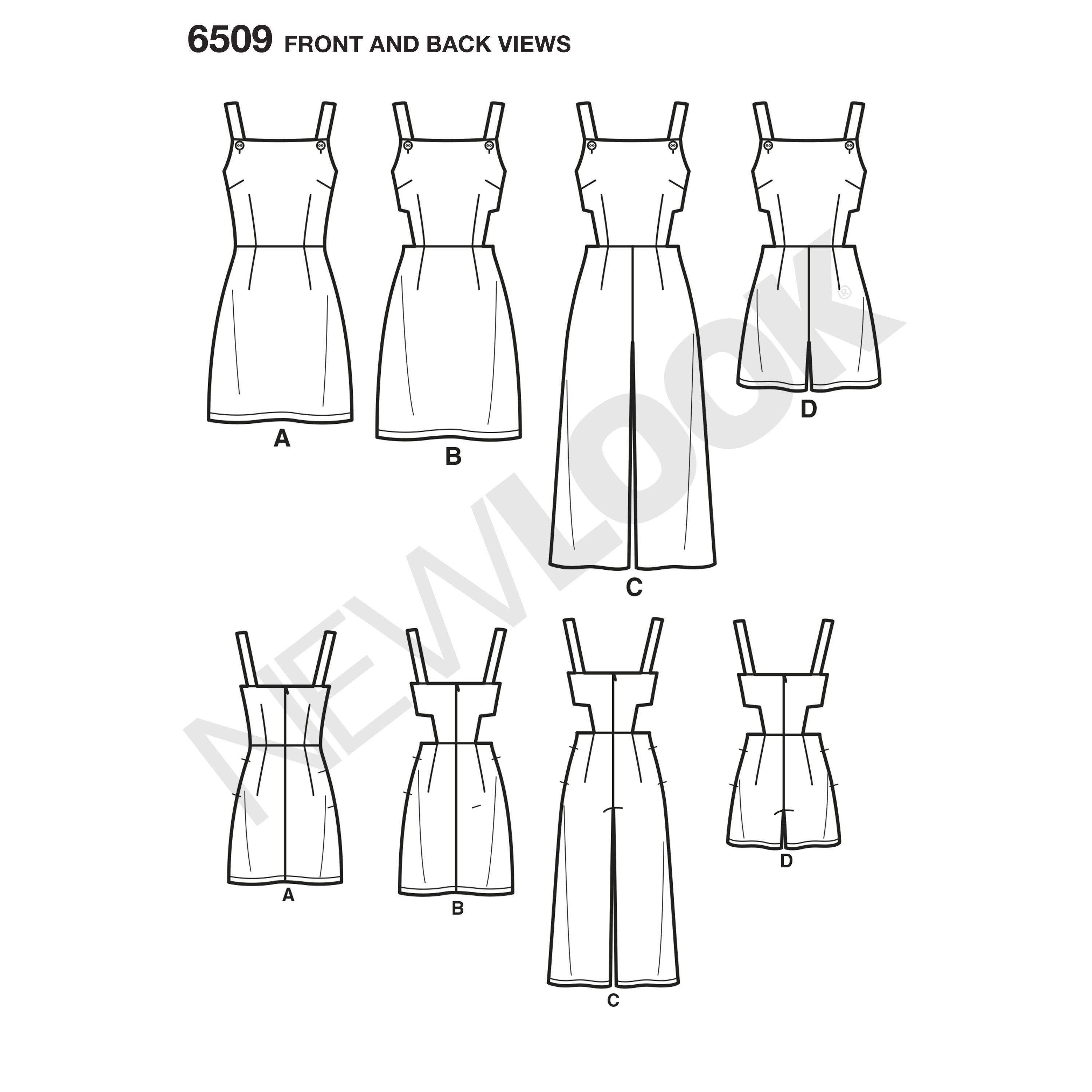 NL6509 Jumpsuit, Romper, and Dress with Variations