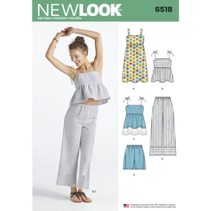 NL6518 Dress, Pants, Shorts and Tops in 2 Lengths