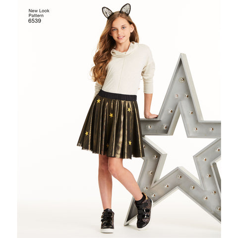 NL6539 Tween Skirts with Ears Headband