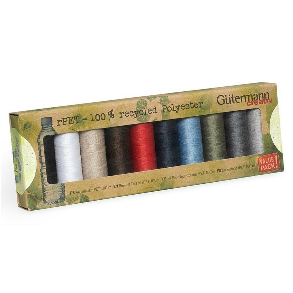 Gutermann Recycled Thread Basic Set | 10 reels