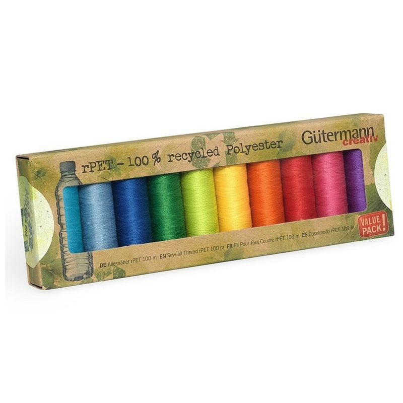 Gutermann Recycled Thread Mid Range | 10 reels from Jaycotts Sewing Supplies