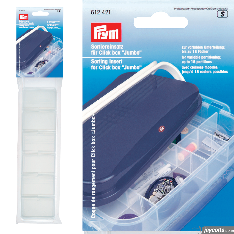 612421 Sorting Insert for Prym JUMBO Click Box