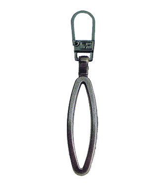 Zip Puller: Black Metal Loop from Jaycotts Sewing Supplies