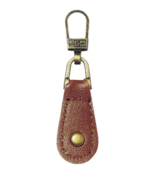 Zip Puller: Tan Leather