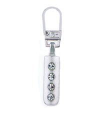 Zip Puller: Rhinestone Strip from Jaycotts Sewing Supplies