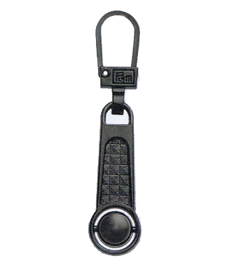 Zip Puller: Ball (steel coloured)