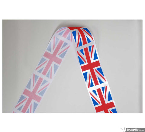 Union Jack Acetate Ribbon