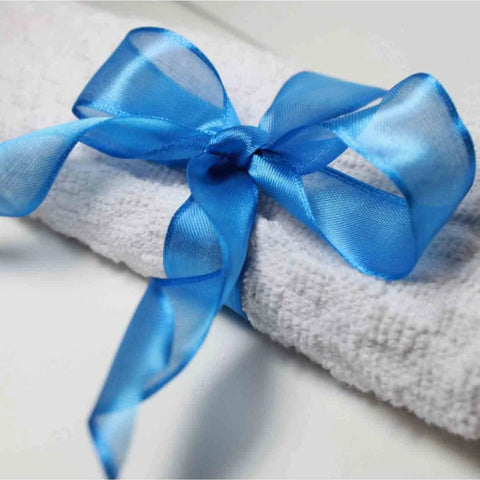 Wired Edge Organza Ribbon | Royal Blue