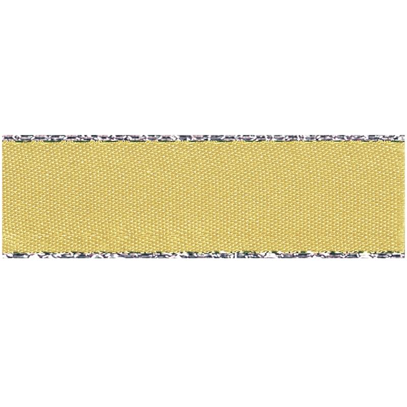 Berisfords Silver Edge Ribbon - Honey Gold | 20m roll from Jaycotts Sewing Supplies