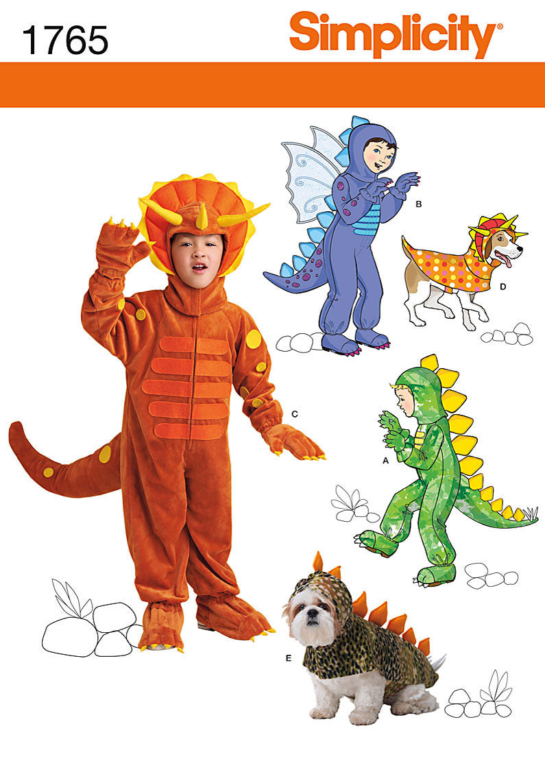 S1765 Child's & Dog's - Dinosaur & Dragon Costumes