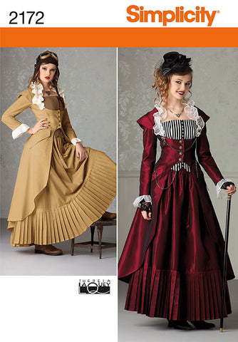S2172 Misses' Victorian era Costume | by Theresa LaQuey