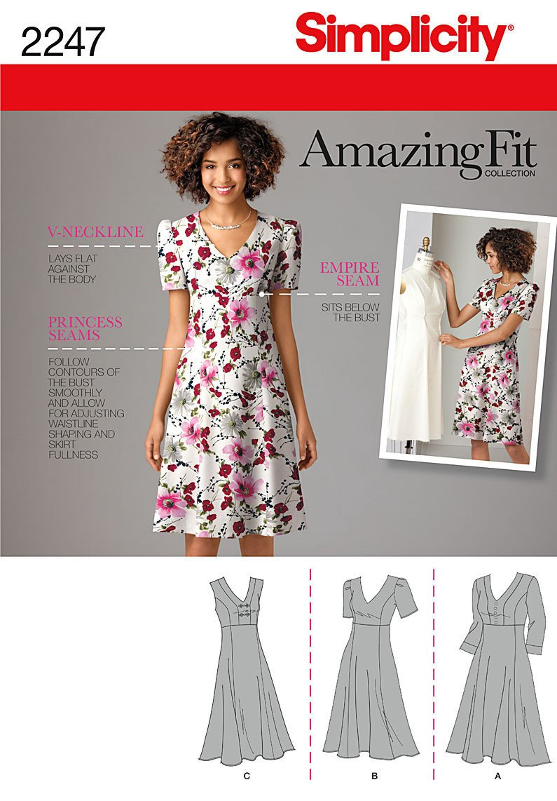 Simplicity Pattern 2247 Misses' & Plus Size Dresses | Amazing Fit from Jaycotts Sewing Supplies