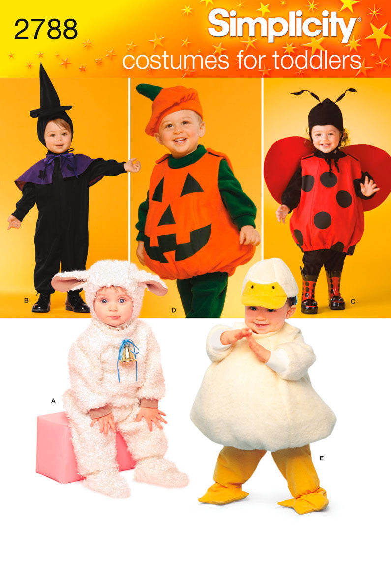 simplicity pattern: s2788 toddler halloween costumes — jaycotts.co