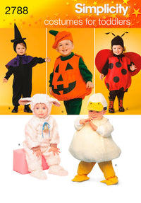 Simplicity Pattern 2788 Toddler Halloween Costumes