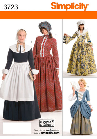 S3723 Misses Pioneer Costumes | size 6 - 14