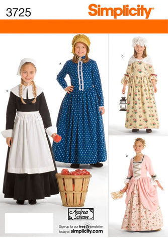 S3725 Girl's Pilgrim/Colonial Costumes | by Andrea Schewe