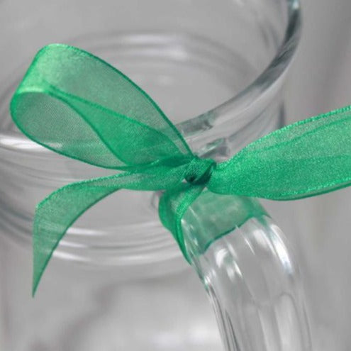 Berisfords Super Sheer Ribbon 25m - EMERALD from Jaycotts Sewing Supplies