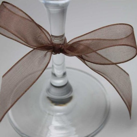 Berisfords Super Sheer Ribbon 25m - BROWN