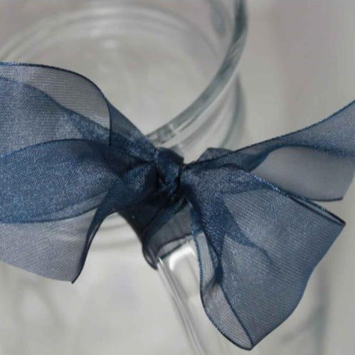 Berisfords Super Sheer Ribbon 25m - NAVY from Jaycotts Sewing Supplies