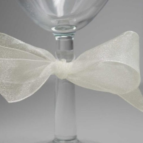 Berisfords Super Sheer Ribbon 25m - BRIDAL WHITE