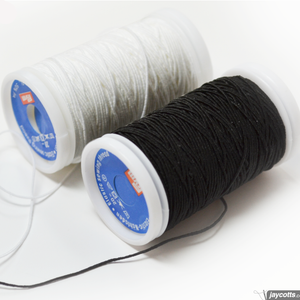 Prym shirring elastic available in black or white