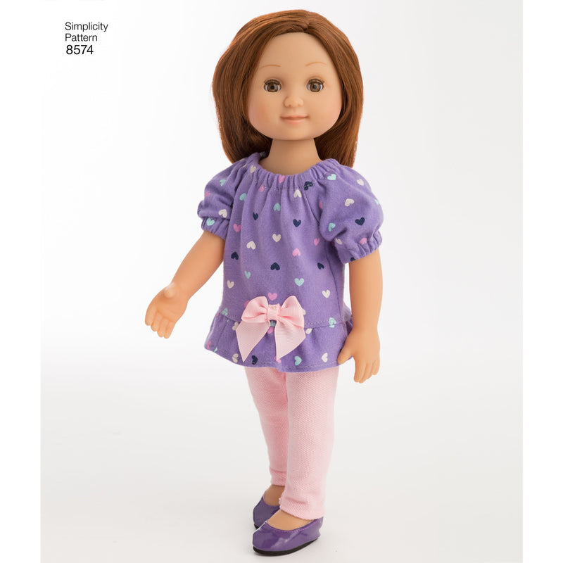 Simplicity Pattern 8574 doll clothes