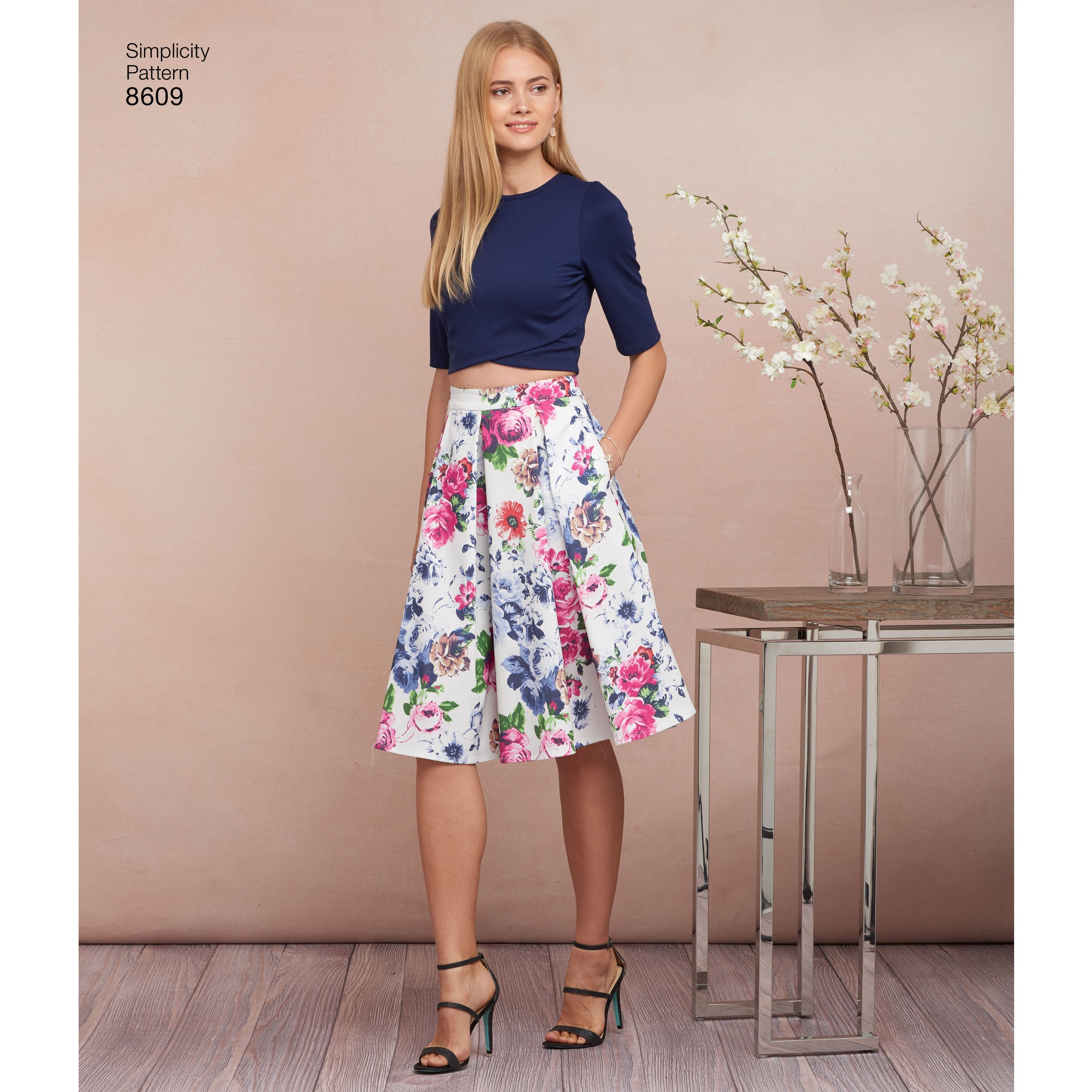 S8609 Skirts and Knit Tops Patterns