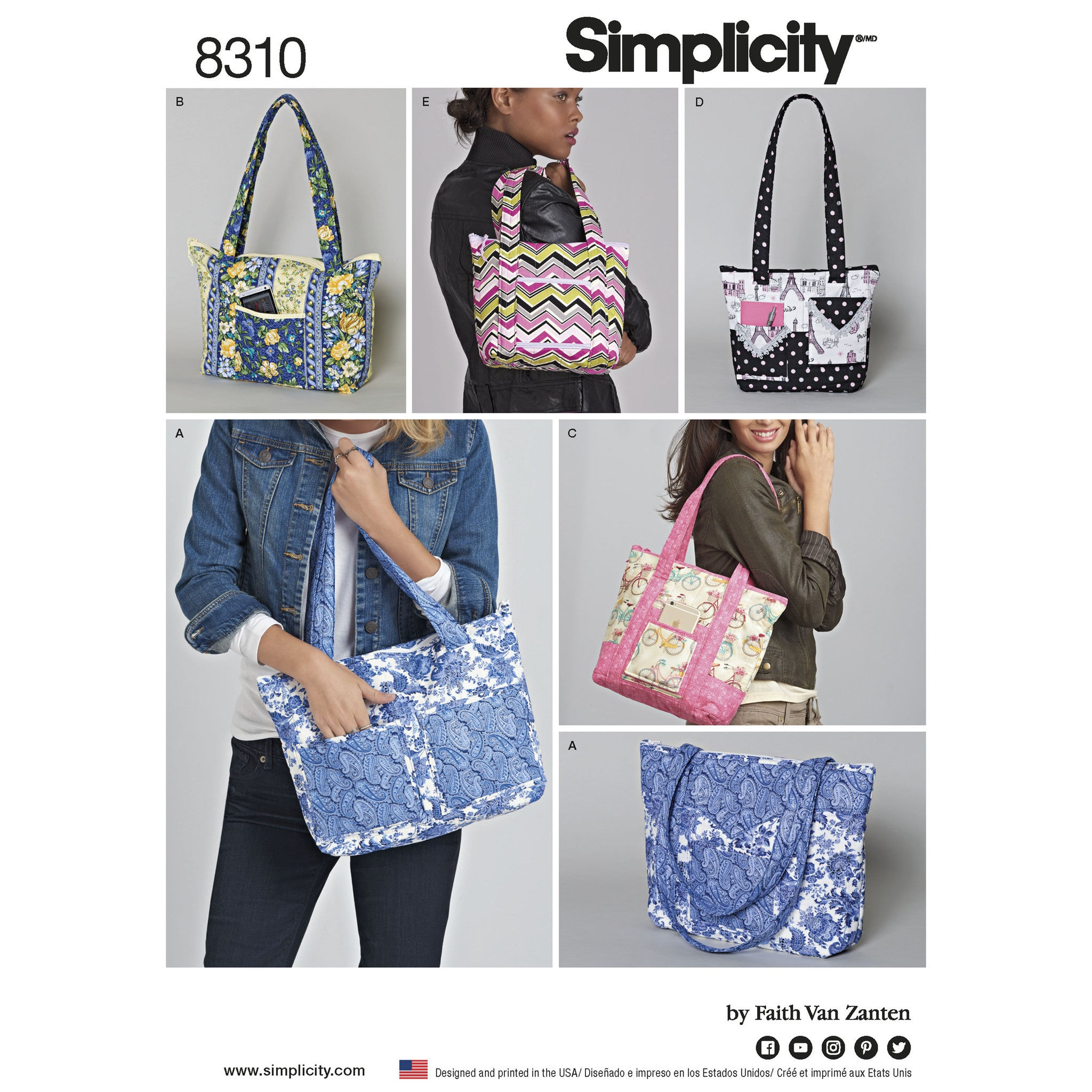 S8310 Quilted Bags in Three Sizes
