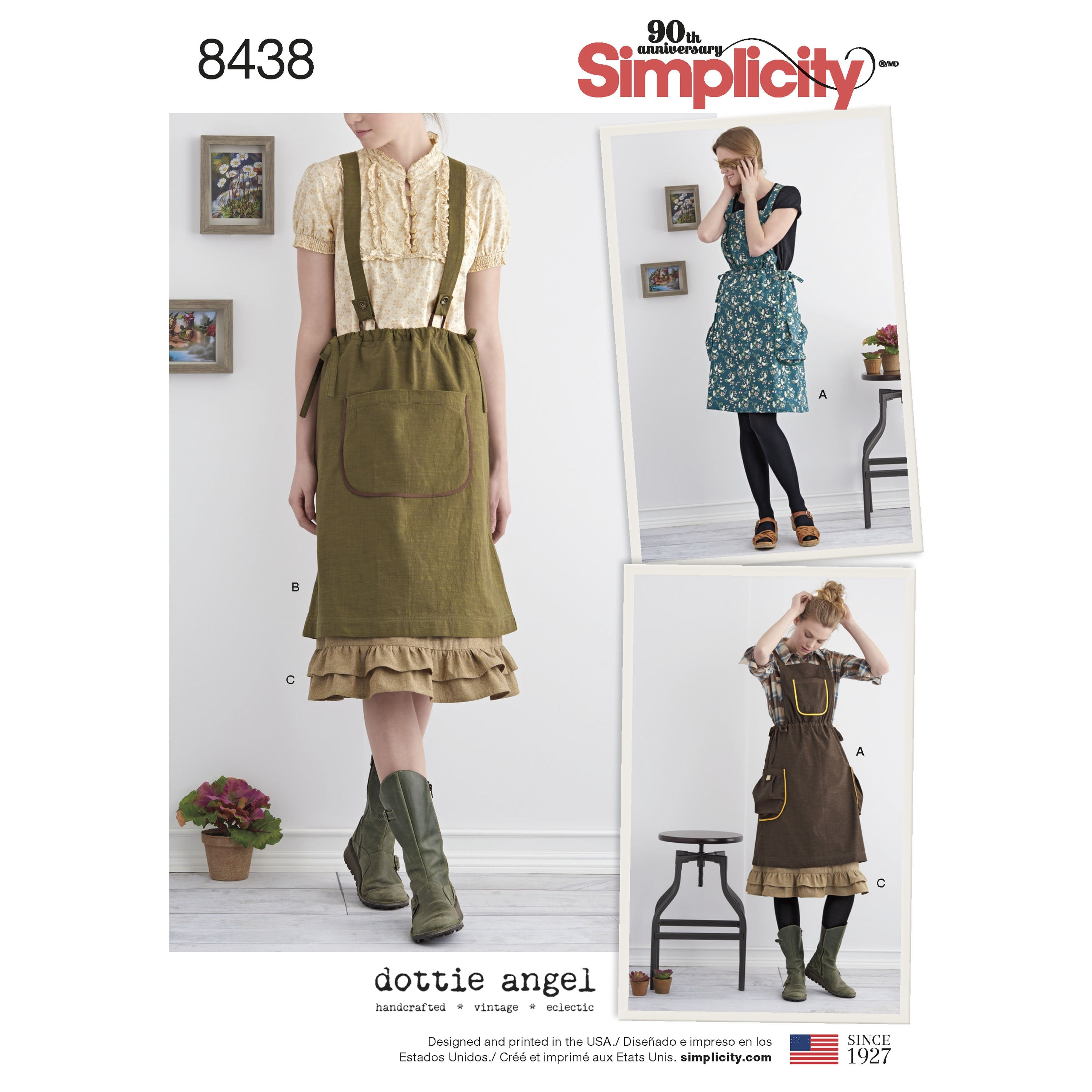 S8438 Misses' Jumper with Braces and Petticoat | Dottie Angel