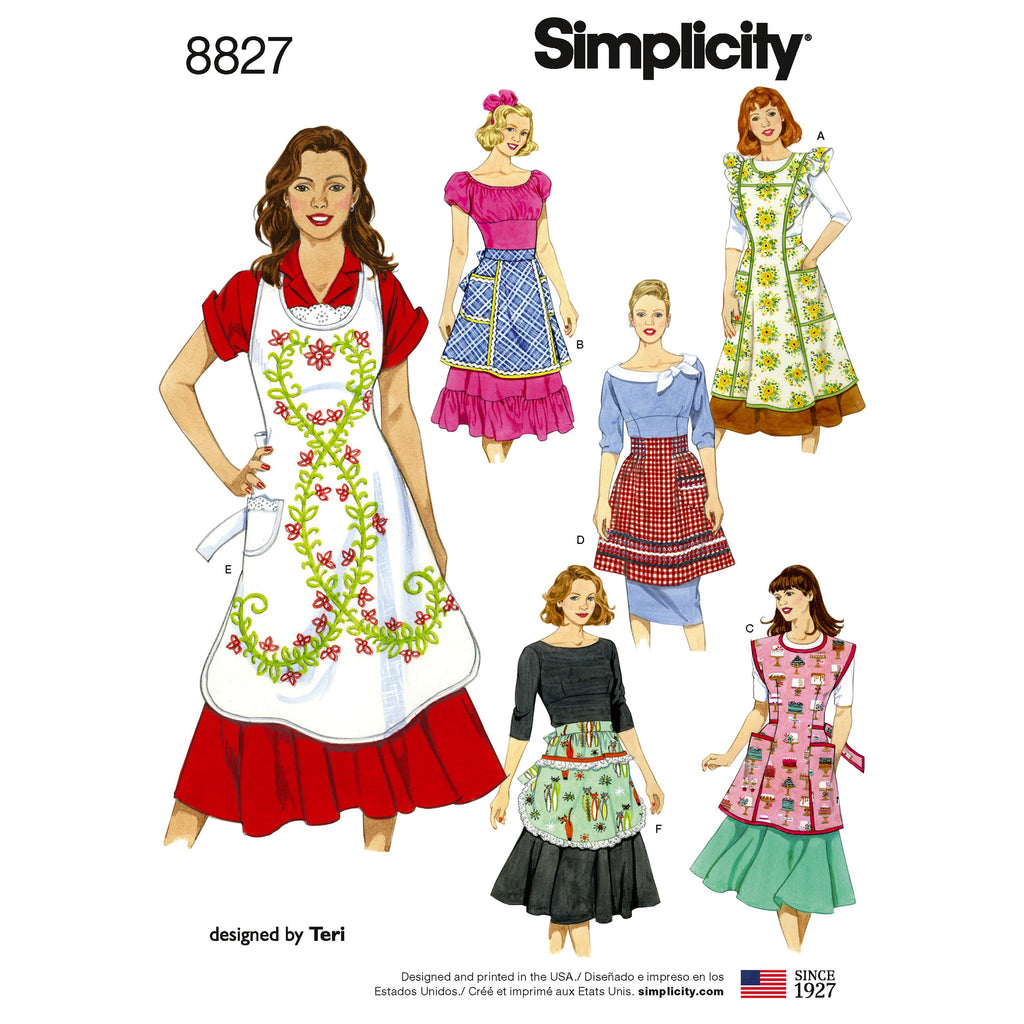 Simplicity Pattern 8827 misses' aprons
