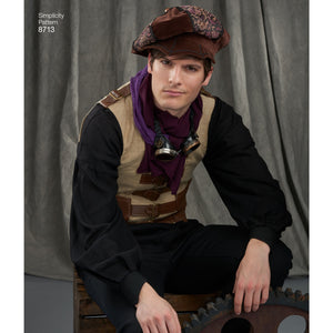 Simplicity Pattern 8713 Men's Artivestry hats from Jaycotts Sewing Supplies