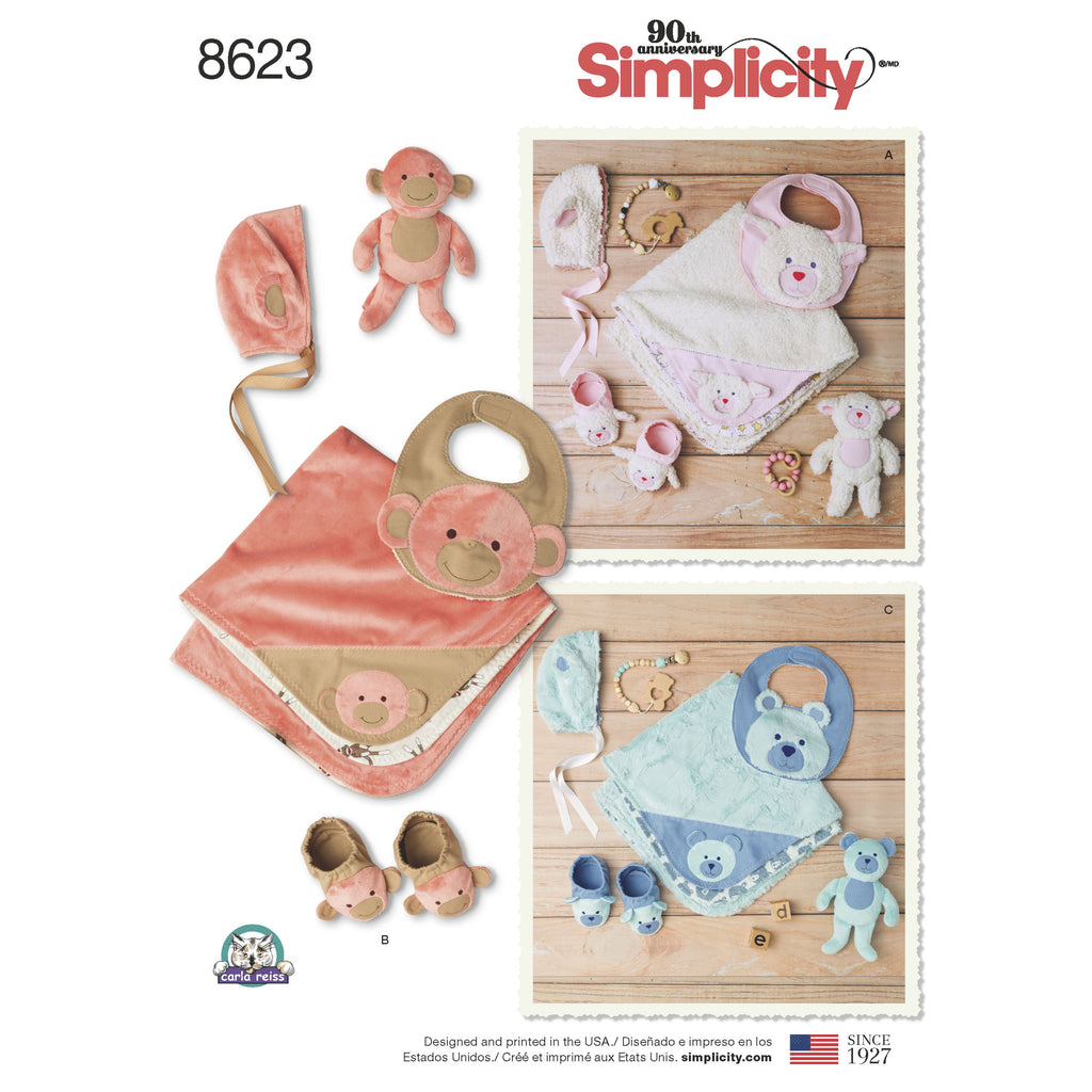 Simplicity Pattern 8623 baby accessories from Jaycotts Sewing Supplies
