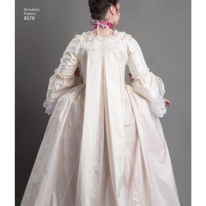 Simplicity Pattern 8578 18th century costume gown