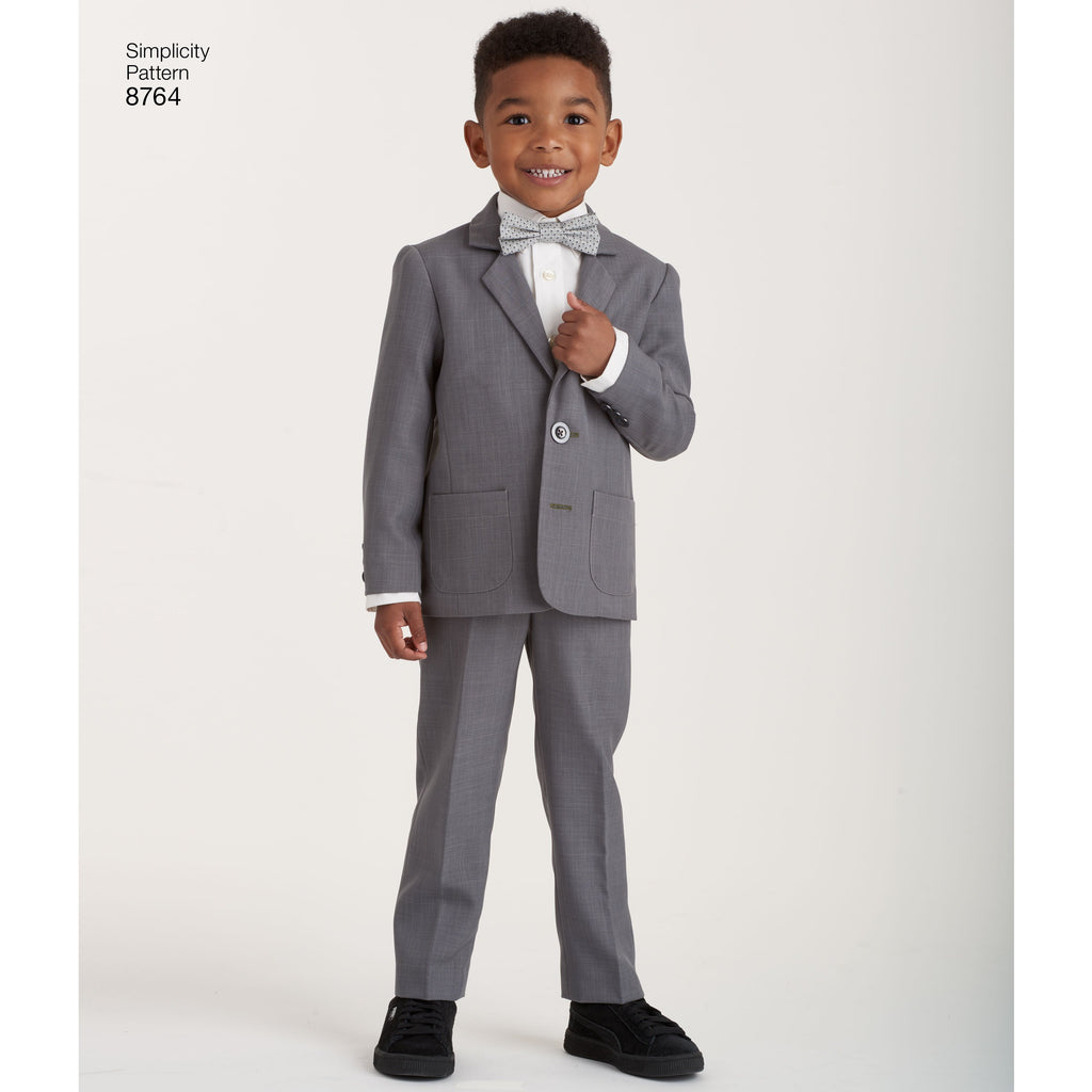 Simplicity Pattern 8764 boys suit and ties