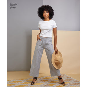 Simplicity Pattern 8841 This easy to sew pull on pants