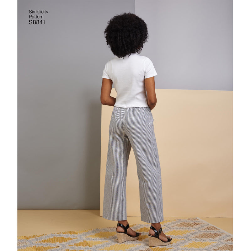 Simplicity Pattern 8841 This easy to sew pull on pants from Jaycotts Sewing Supplies