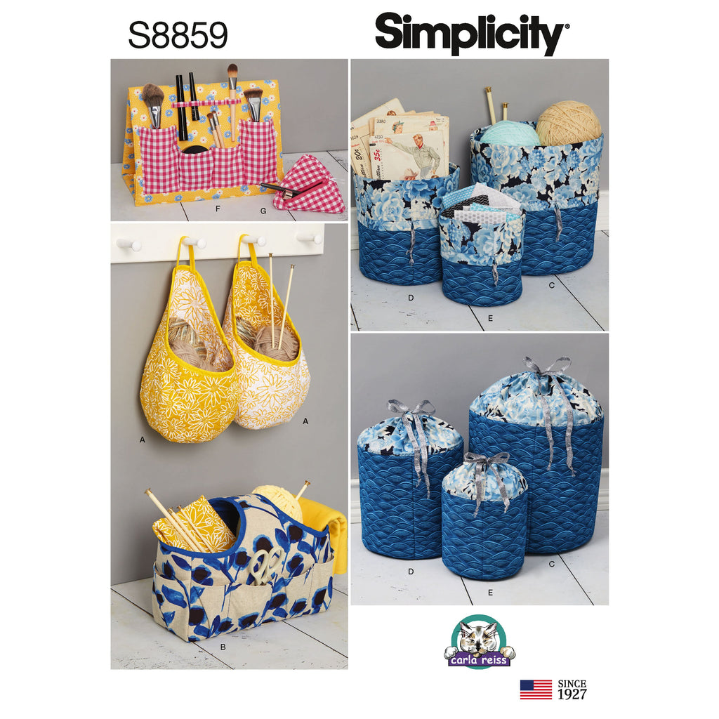 Simplicity Pattern 8859 Organizers Sewing Pattern from Jaycotts Sewing Supplies