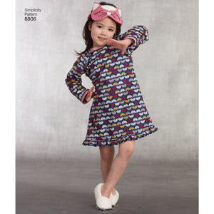 Simplicity Pattern 8806 boys and girls loungewear from Jaycotts Sewing Supplies