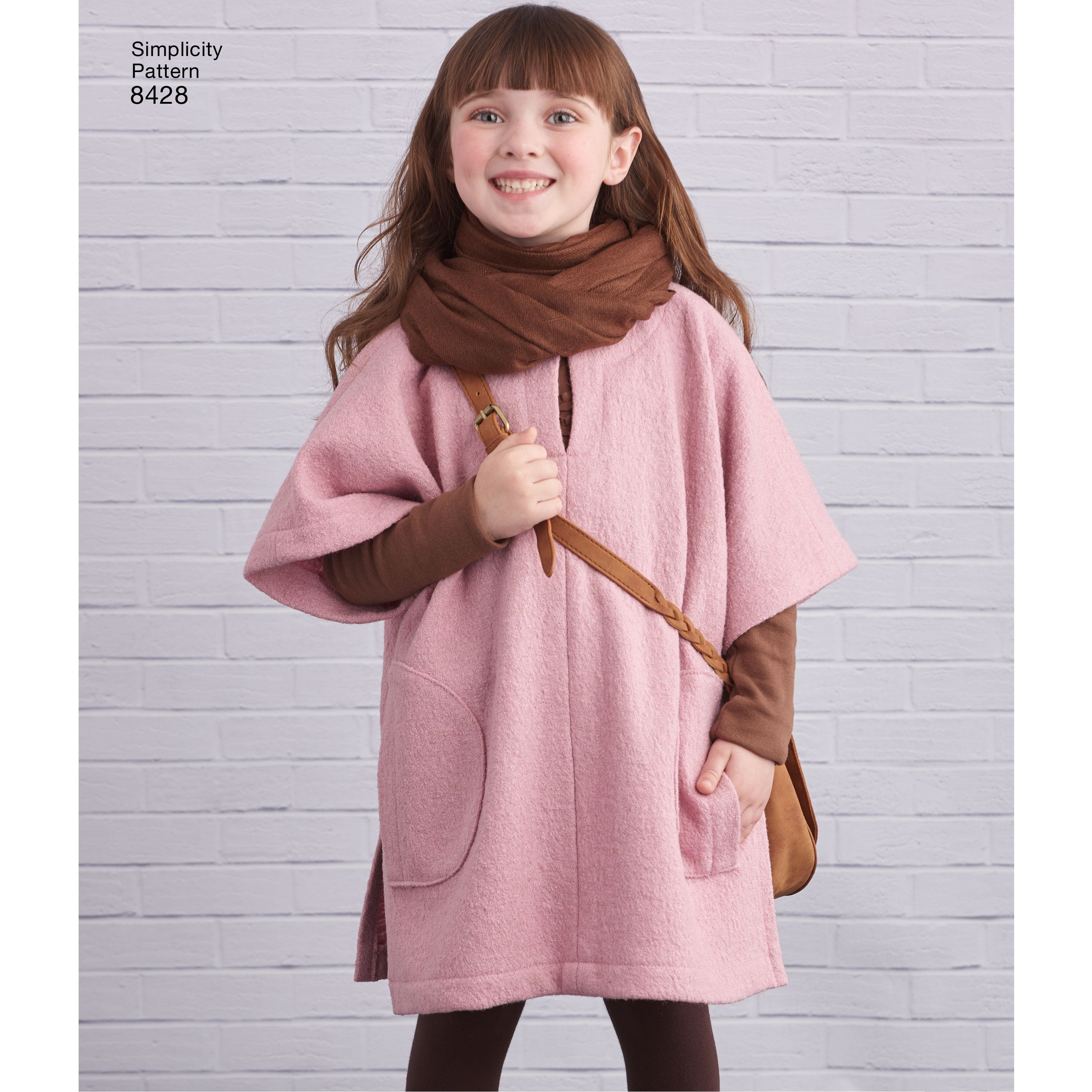 Simplicity Pattern 8428 childs-poncho-in-two-lengths