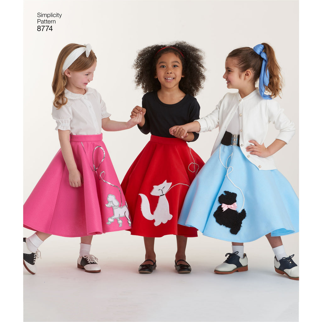 Simplicity Pattern 8774 Girls' Jive Costumes